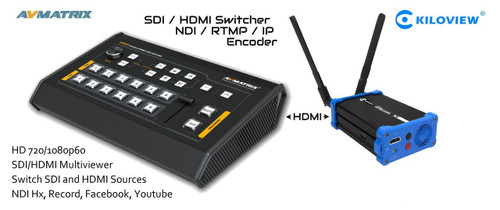 AV Matrix Mini 6-Channel Switcher with HDMI-USB Adapter