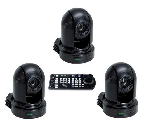 BirdDog Eyes Kit with 3 NDI Cameras and PTZ Keyboard (Black)