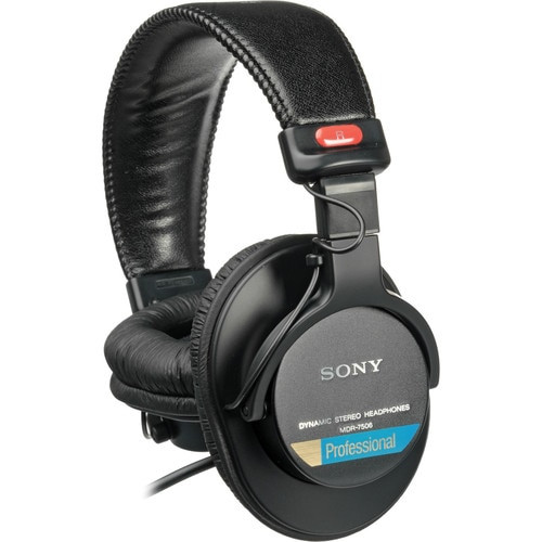 Sony MDR-7506 Headphones with Slappa Case