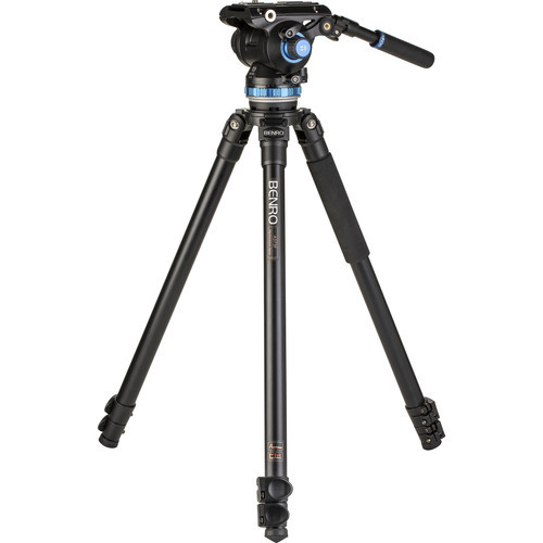 Benro Aluminum Single-Tube Tripod & S8Pro Fluid Video Head