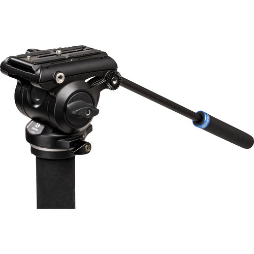 Benro Aluminum Monopod with 3-Leg Base & S4Pro Fluid Video