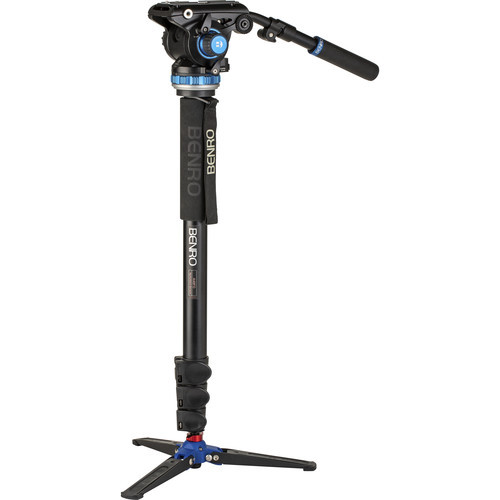 Benro Aluminum Monopod with 3-Leg Base & S6Pro Fluid Video