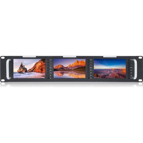 "FeelWorld T51 T51 Triple 5"" 2 RU 3G-SDI/HDMI Rackmount Monitor"