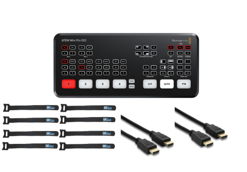 Blackmagic Design ATEM Mini Pro ISO with 4 Cables and Ties
