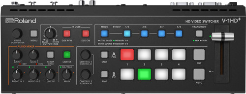 Roland V-1HD+ Video Switcher & UVC-01 Streaming Encoder