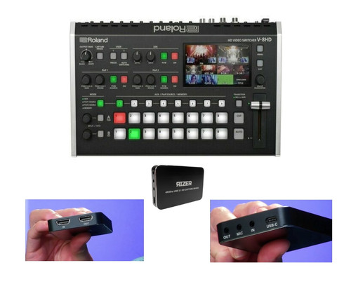 Roland V-8HD HD Video Switcher with Video Capture Device