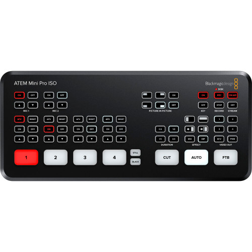 Blackmagic ATEM Mini Pro ISO with USB Type-C Cable 6.6. ft.