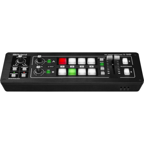 Roland V-1HD Video Switcher with Sony Headphones