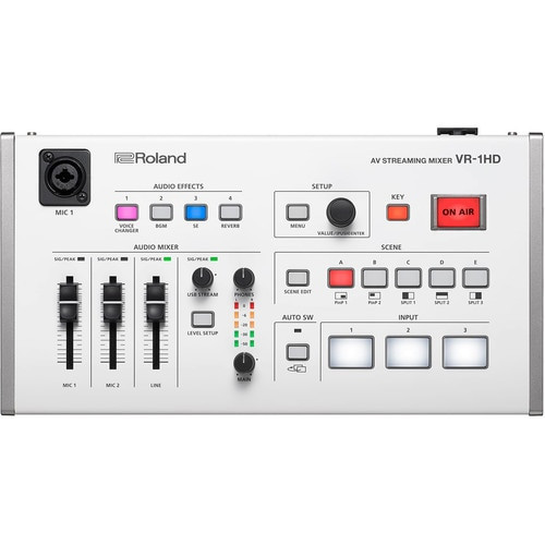 Roland VR-1HD AV Streaming Mixer with Sony Headphones