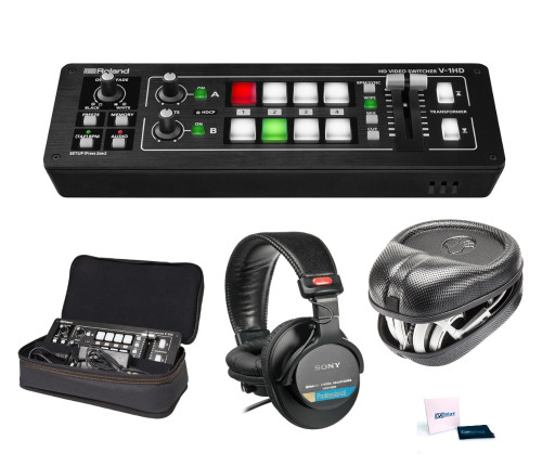 Roland V-1HD Video Switcher with Bag, Headphones and Case