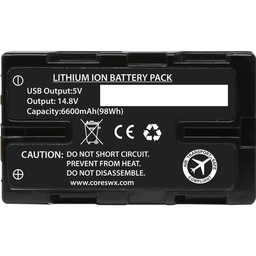 Core SWX Nano-U98 14.8V Battery with D-Tap for Camcorders