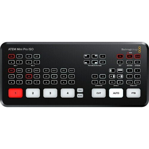 ATEM Mini Pro ISO Switcher with Broadcast Monitor