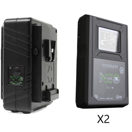 Core SWX HyperCore NEO Slim 98Wh V-Mount 2-Battery Kit with GPM-X2S Dual Charger