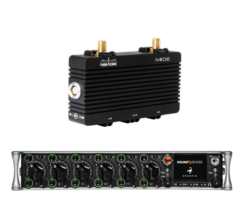 Sound Devices Scorpio Mixer-Recorder with Teradek Node-NA Cellular 4G LTE Module