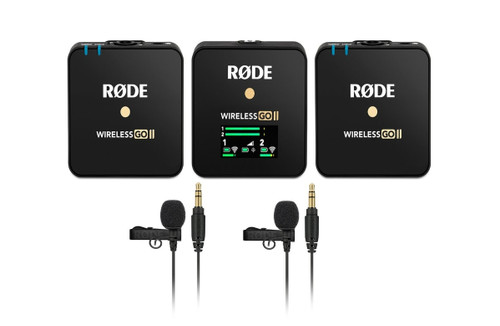 Rode Wireless GO II with Rode Lavalier GO (X2)