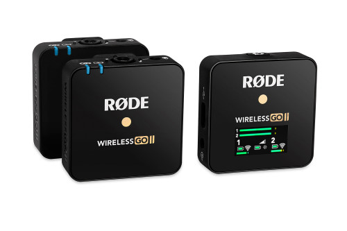 Rode Wireless GO II with (X2) Rode Lavalier GO