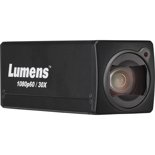 Lumens 1080P Box Cam 30X Opticial Zoom (Black)