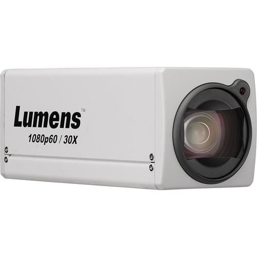 Lumens 1080P Box Cam 30X Opticial Zoom (White)