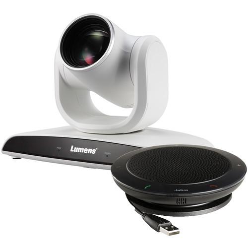 Lumens VC-B30UAW 2MP PTZ Camera with Jabra Speaker (White)