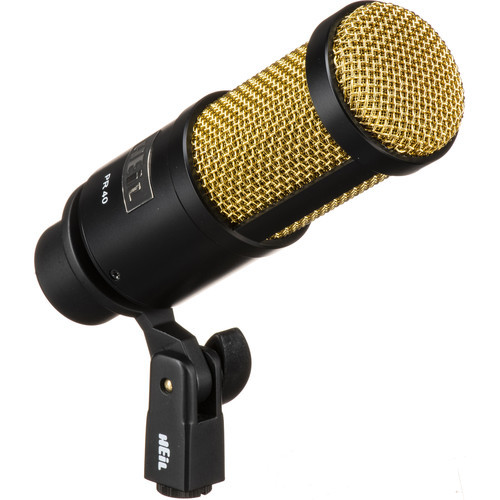 Heil Sound PR40B Dynamic Cardioid Microphone (Black Body/Gold Grill)