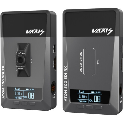 Vaxis ATOM 500 SDI Wireless Video Transmitter and Receiver Kit with Cold Shoe Mount