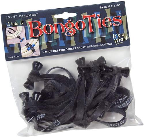 BongoTies Style D (10-Pack, Obsidian)