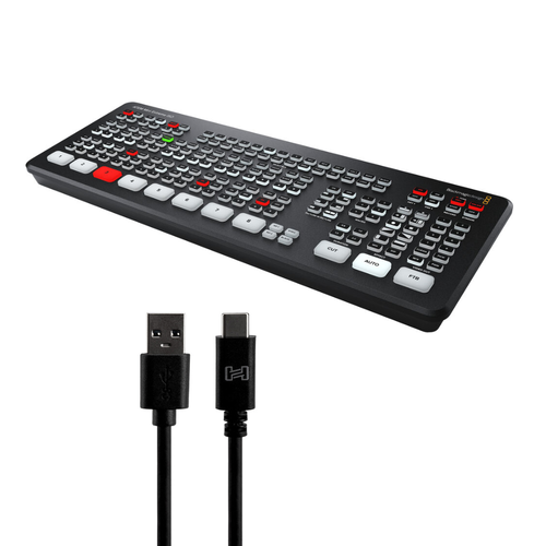 Blackmagic Design ATEM Mini Extreme ISO with Hosa SuperSpeed 3.0 Type A to Type C Cable