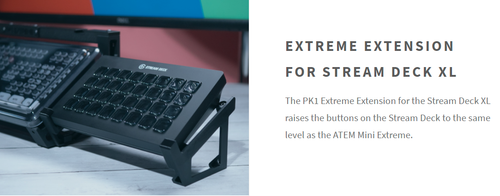 The PK1 Extreme Extension for the Stream Deck XL (Right Side)