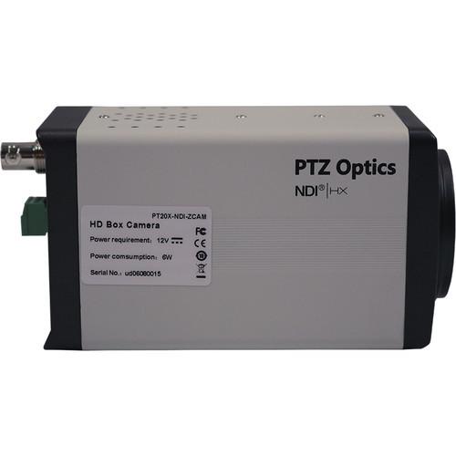 PTZOptics 20x NDI HX ZCAM 3G-SDI Box Camera