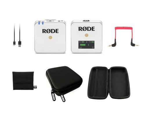 Rode Wireless GO White with Rizer Storage Case