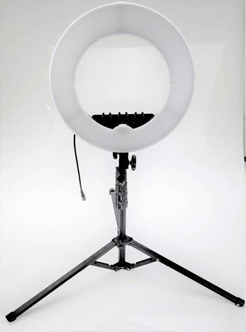 Prismatic Halo Mini LED Ring Light with Compact 6 ft. Stand