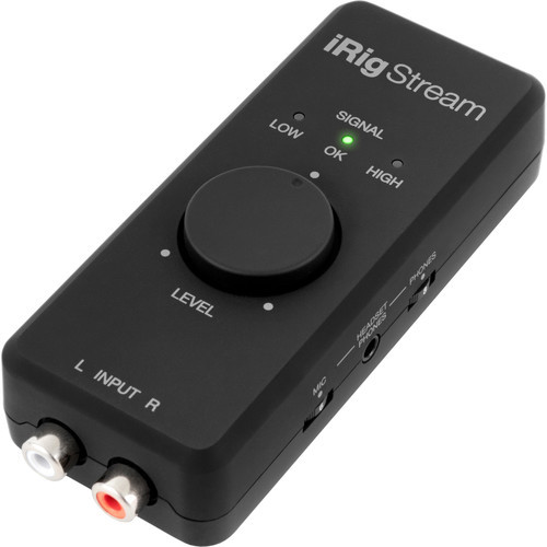 IK Multimedia iRig Stream Ultracompact 2x2 Audio Interface for Computers, Smartphones, and Tablets