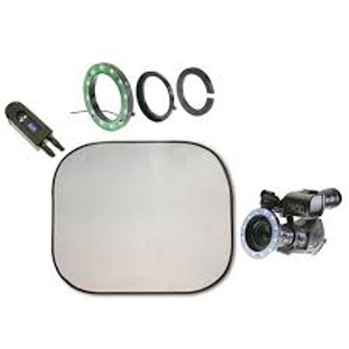 Reflecmedia 7'x7' Chromaflex Bundle with Medium Dual LiteRing and Controller by Reflecmedia