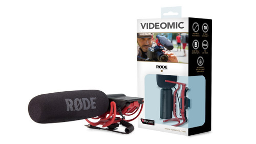 RODE VideoMic Rycote with Black Wind Muff