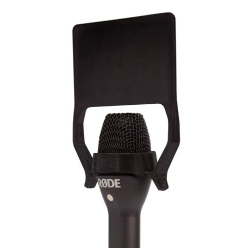 RODE Reporter Omnidirectional Interview Microphone Side Angle close with flag