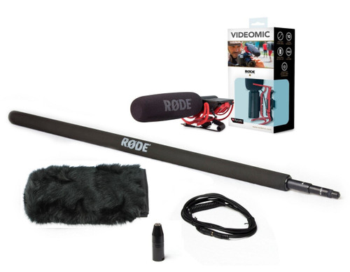 VideoMic Boom Kit 2: Rode Videomic, Microboompole, 10' VC1, VXLR, and Fuzzy Dead Thing Wind Muff