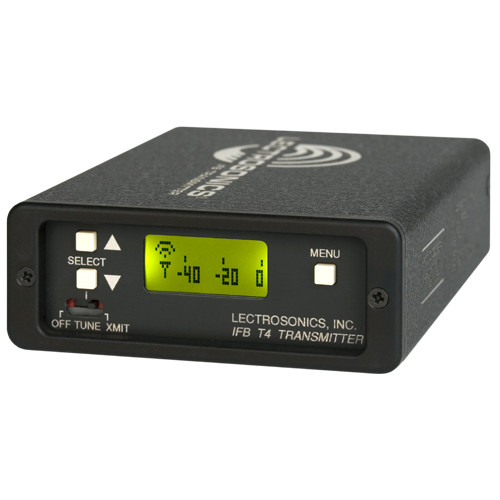 Lectrosonics T4 Frequency-Agile Compact IFB Transmitter  by Lectrosonics