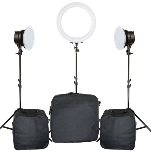 Judy's Beauty Studio Starter 3 Light Kit LED