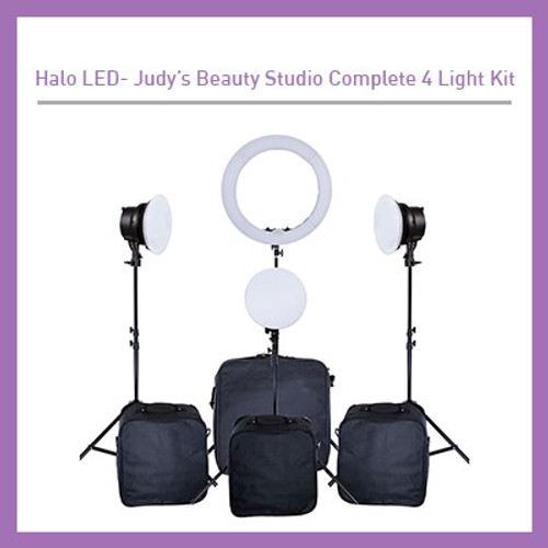 Judy's Beauty Studio Complete 4 Light Kit LED