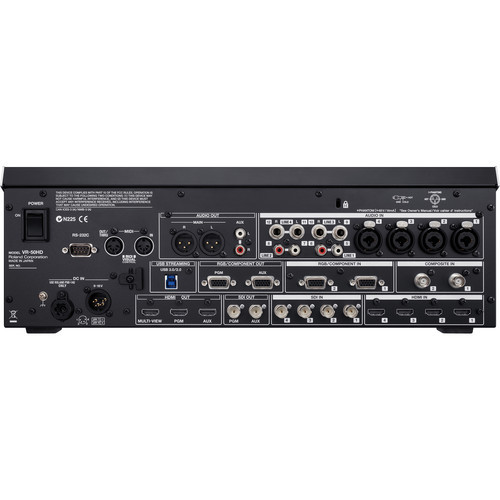 Roland VR-50HD Multi-Format AV Mixer Back