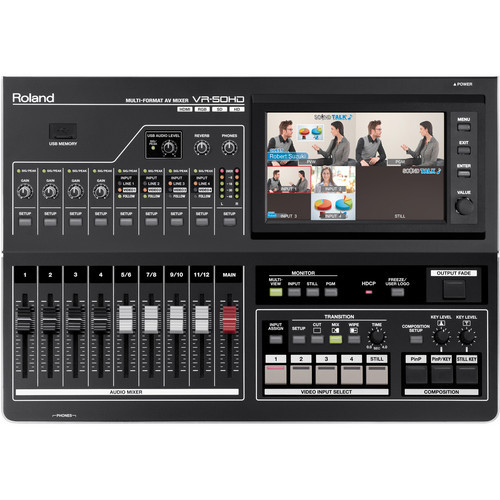 Roland VR-50HD Multi-Format AV Mixer Top