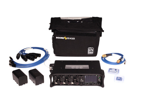 Sound Devices 633 Kit Six-Input Compact Mixer with 10-Track Recorder
