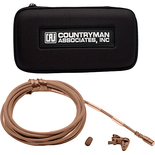 Countryman B2DW4FF05TSMF B2D Directional Lavalier Microphone with Standard Gain Sensitivity for Lectrosonics Transmitters (Tan) Accessories
