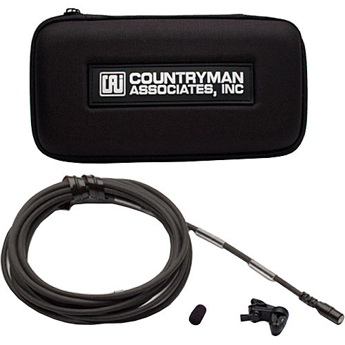 Countryman B2DW4FF05BSMF B2D Directional Lavalier Microphone with Standard Gain Sensitivity for Lectrosonics Transmitters (Black) Accessories