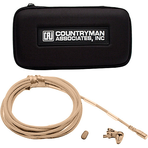 Countryman B2DW5FF05LSMF B2D Directional Lavalier Microphone with Mid Gain for Lectrosonics Transmitters (Light Beige)