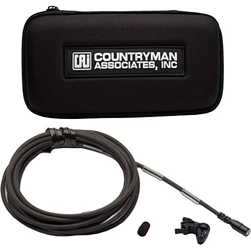 Countryman B2DW4FF05BSLF B2D Directional Lavalier Microphone with Standard Gain Sensitivity for Shure Ta-4F Connectors (Black) Accessories
