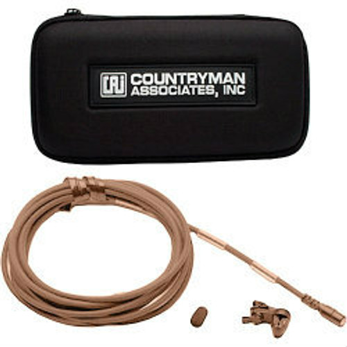 Countryman B2DW5FF05TSM B2D Directional Lavalier Microphone with Mid Gain Sensitivity for Lectrosonics Transmitters (Tan) Accessories