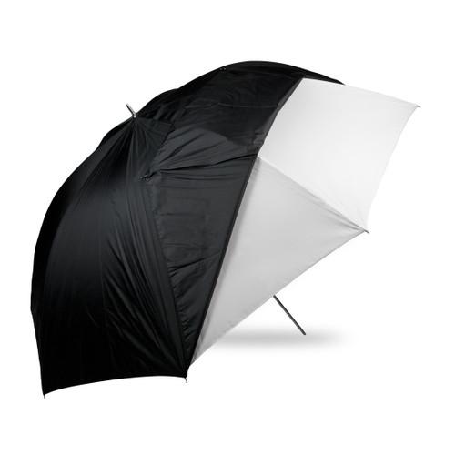 "Westcott 60"" Optical White Satin & Removable Black Cover Umbrella"