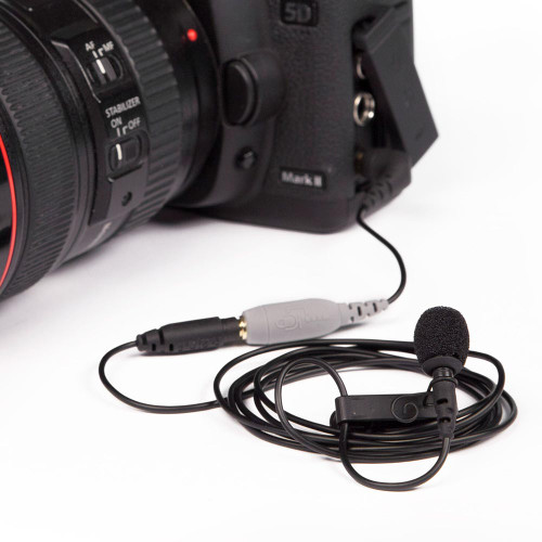smartLav+ Lavalier Condenser Microphone In use