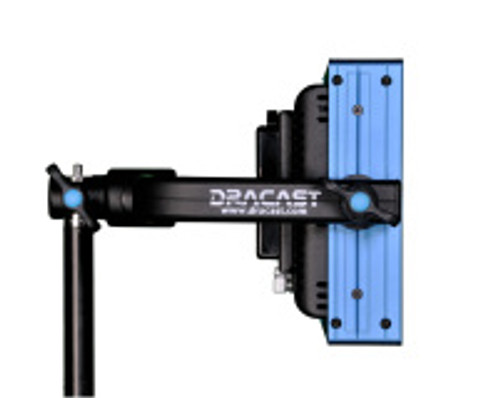 Dracast LED 500 Daylight Gold Mount Plate Studio Lighting Side